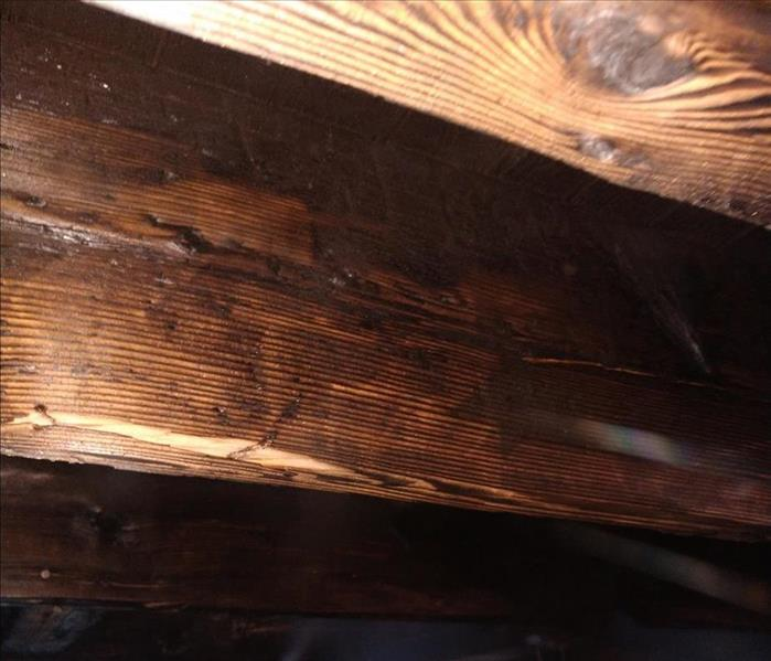 Support beams and sub-floor after Dry Ice blasting