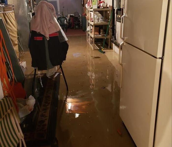 Flooded Basement in Chicopee, MA Before